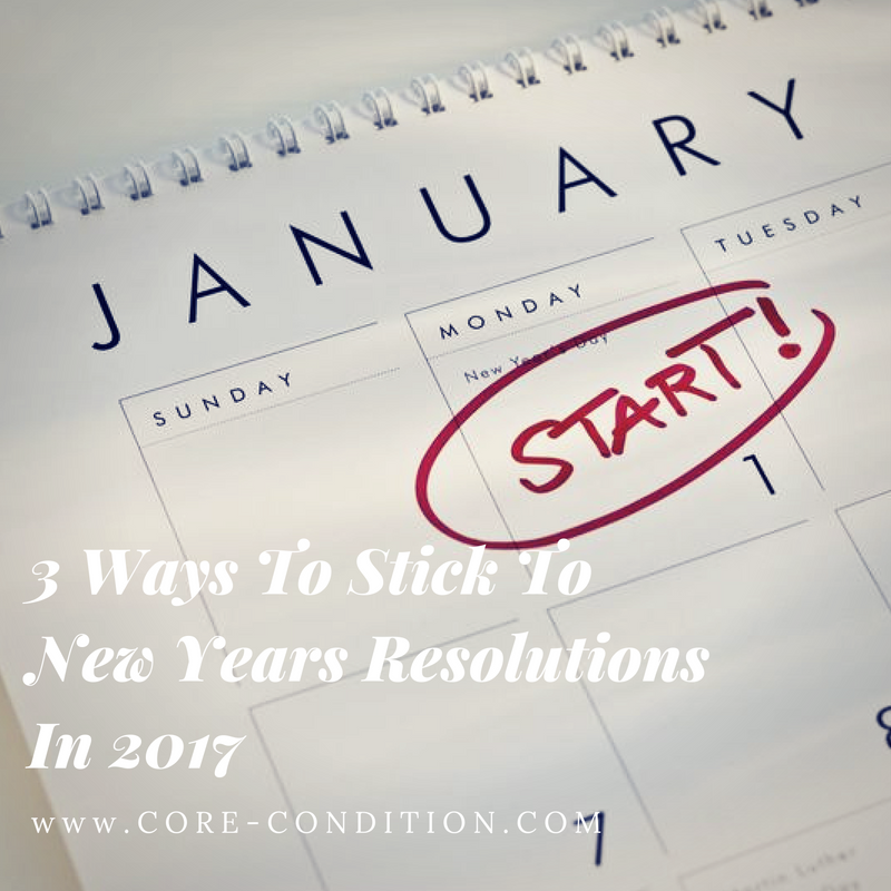 3 Ways to Stick To New Years Resolutions In 2017