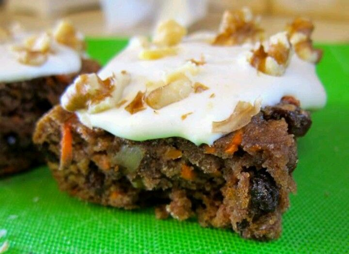 No Bake Carrot Cake Protein Squares