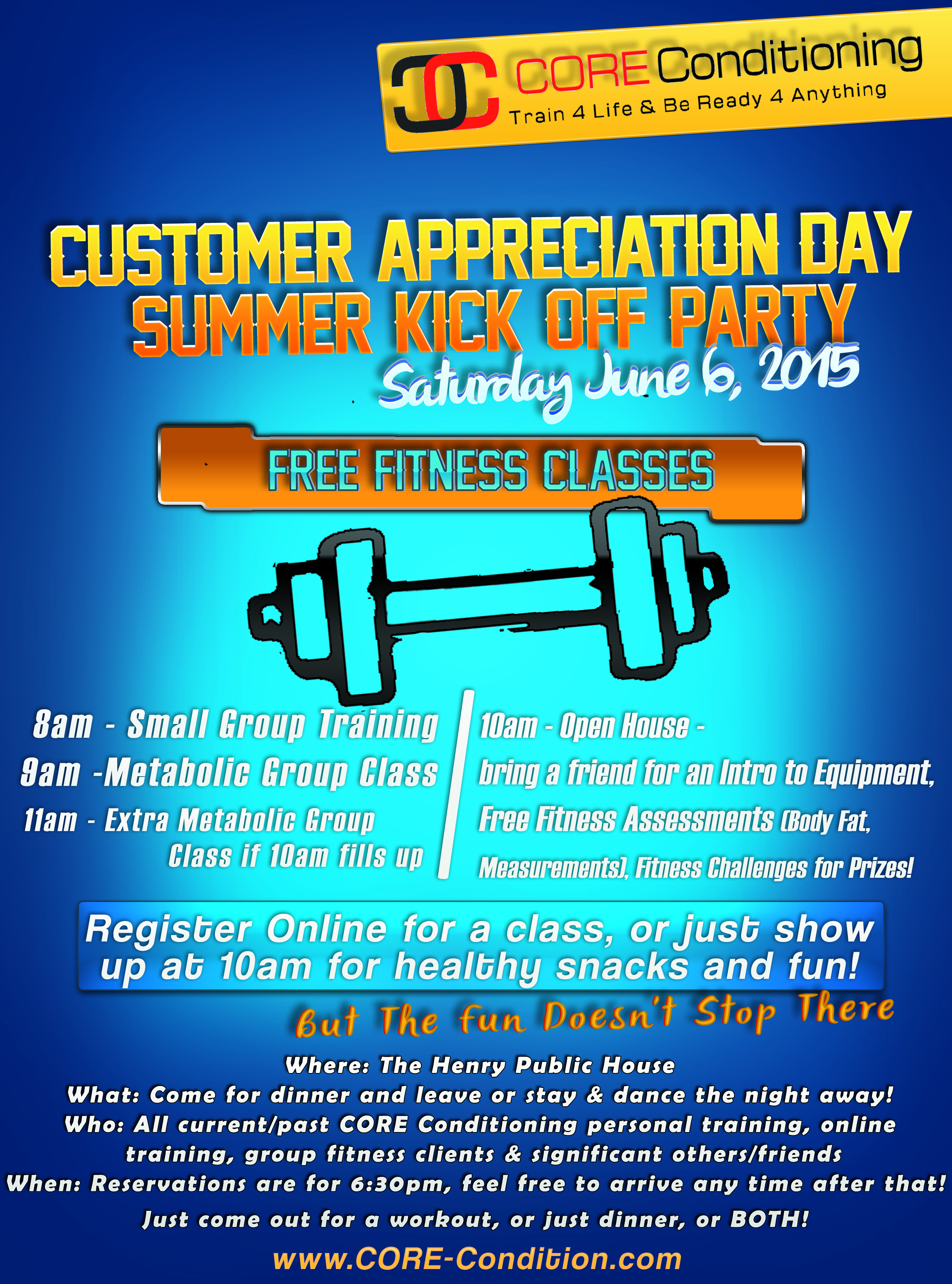 Free Fitness Classes This Saturday!