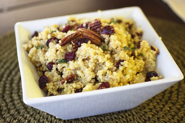 Easy Lunch, Breakfast or Dinner Idea –  Cranberry Pecan Quinoa