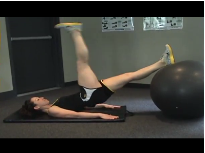 Build Hip Stability & CORE Strength with Ball Bridge with Single Leg Raise Exercise (Video Inside!)