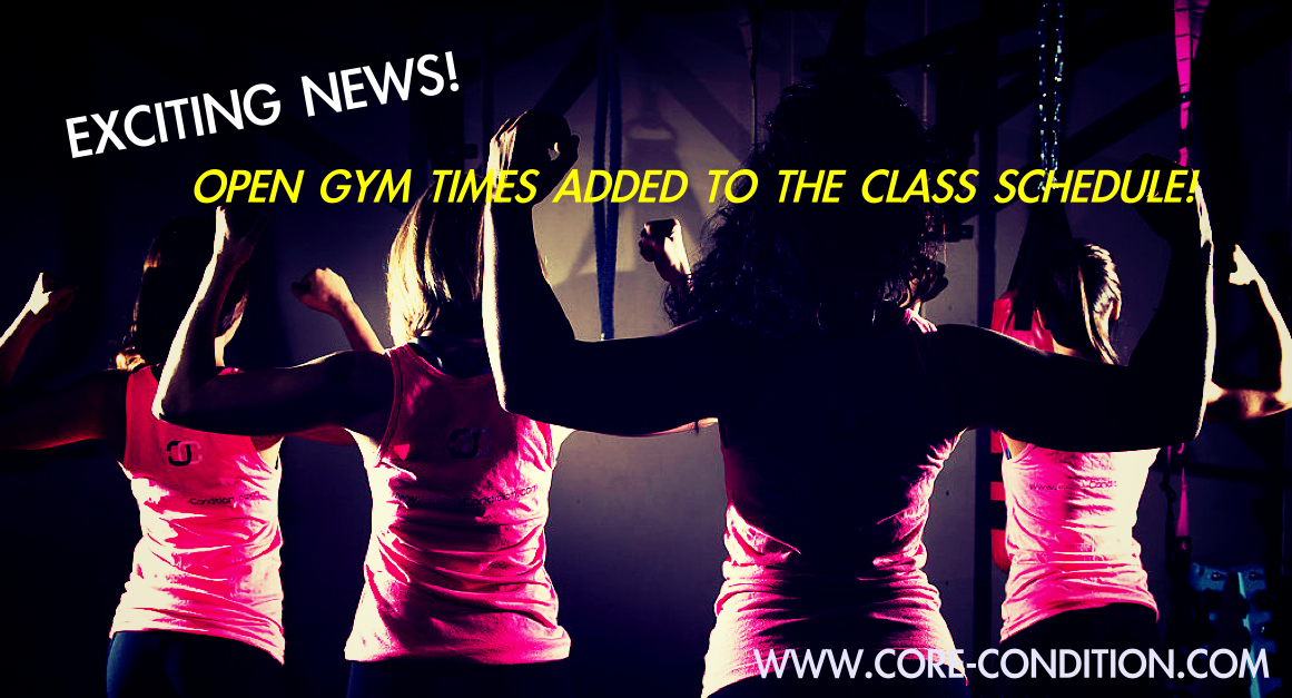 OPEN GYM TIMES ADDED TO THE STUDIO SCHEDULE!