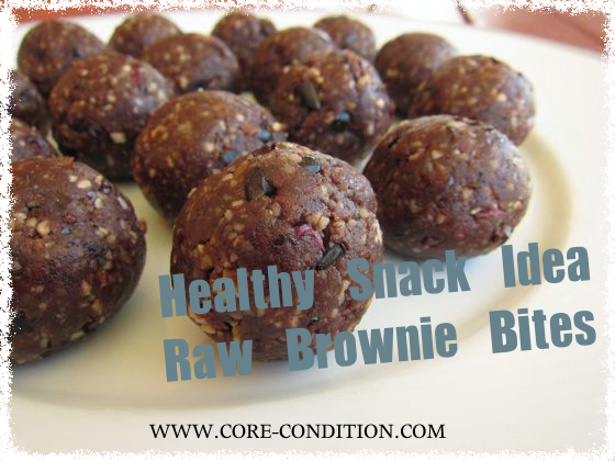 Healthy Snack Idea – Raw Brownie Bites – Ready in 10 Minutes