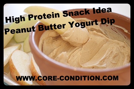 High Protein Snack-Peanut Butter Yogurt Dip