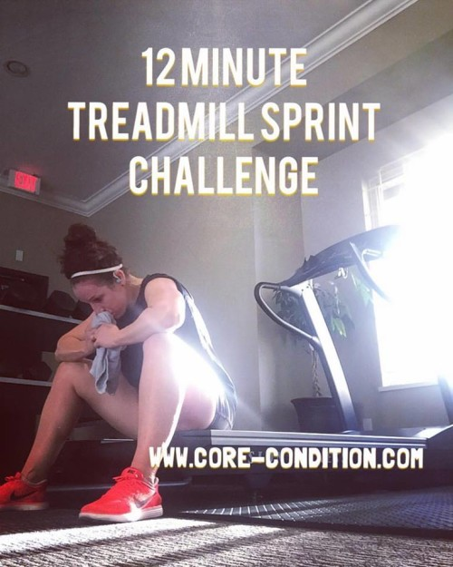 12 Minute Treadmill Sprint Challenge