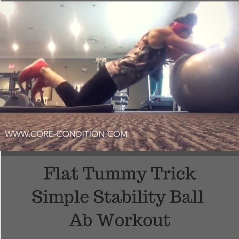 Flat Tummy Tricks – Simple Stability Ball Ab Workout