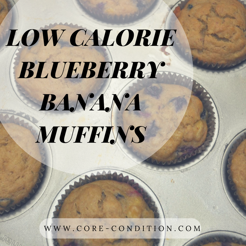 Low Calorie Blueberry Banana Muffins